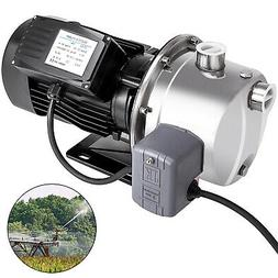 0.75HP 14GPM Shallow Well Jet Pump w/Pressure Switch Stainle
