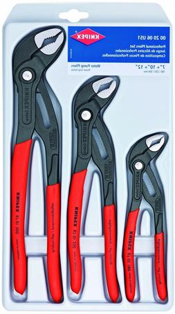 KNIPEX Tools 00 20 06 US1, Cobra Pliers 7, 10, and 12-Inch S