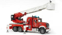 Bruder #02821 MACK Granite Fire Engine with Water Pump! NEW!