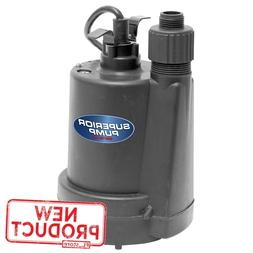 1/4 HP Utility Pool Water Pump Submersible Thermoplastic Flo