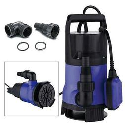 1.5HP Clear Dirty Water Submersible Plastic Pump Swimming Po