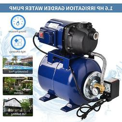 1.6 HP Electric Shallow Well Pressurized Home Irrigation Gar