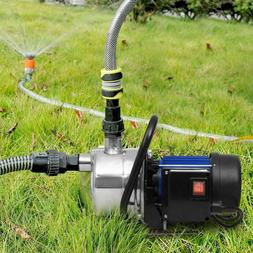 1.6HP Shallow Well Sump Pump Stainless Booster Pump Lawn Ele