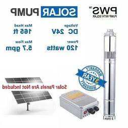 "120W DC24V Solar Water Pump 3/4"" Stainless Steel Submersible"