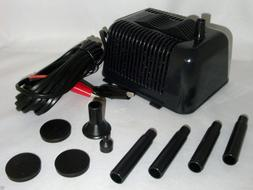 12VOLT DC SUBMERSIBLE WATER  FOUNTAIN PUMP FOR USE W 12V SOL