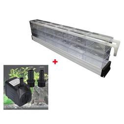 18 Boxes Aquarium Fish Tank Upper Wet/Dry Trickle Filter+Sub