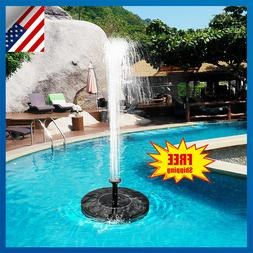 180L/H Solar Power Fountain Water Pump Floating Panel Garden
