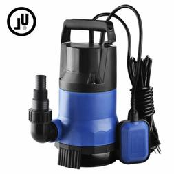 1HP 3432GPH 750W Submersible Water Pump Dirty Clean Swim Poo