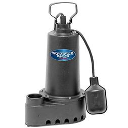 Superior Pump 92507 1/2 HP Cast Iron Sump Pump with Tethered