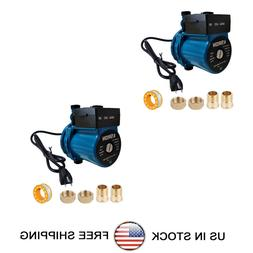 2 Pack Automatic Booster Pump NPT 3/4'' Domestic Circulation