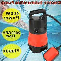 2000GPH 400W Electric Submersible Pump Clean Dirty Flood Wat