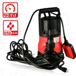 2113GPH 1/2HP Submersible Pump 110V Clean-Dirty Submersible