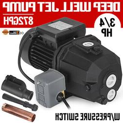 3/4 HP Shallow or Deep Well Jet Pump w/Pressure Switch Suppl