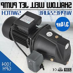 3/4 HP Shallow Well Jet Pump w/ Pressure Switch Supply Water