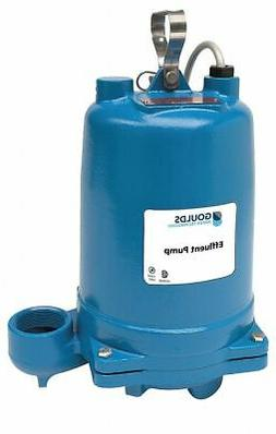 Goulds Water Technology 3/4 HP Submersible Effluent Pump, No