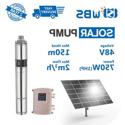 "3"" DC Screw Solar Water Pump 48V 750W Submersible Well Garde"