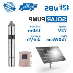 "3"" DC Screw Solar Water Pump 72V 750W Submersible Well Garde"
