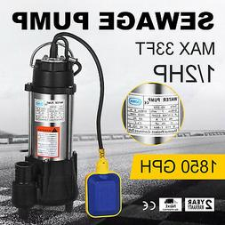 370W Submersible Sewage Dirty Water Pump Cast Iron Heavy Dut
