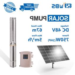 """4"""" DC Deep Well Solar Water Pump 48V 750W Submersible MPPT C"""