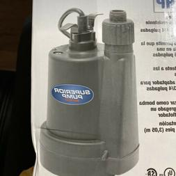 Submersible Water Pump Superior 1/4 HP Thermoplastic Utility