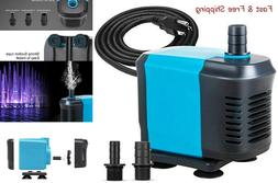 550GPH Submersible Pump, Ultra Quiet Water Pump for Fish Tan