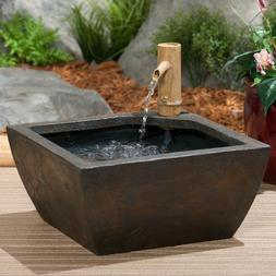 "Aquascape 78197 Patio Pond Kit w/Bamboo Fountain 16"" square-"