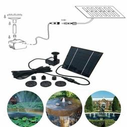 7V 180L/H Solar Panel Power Water Pumps Fountain Pool Pond P