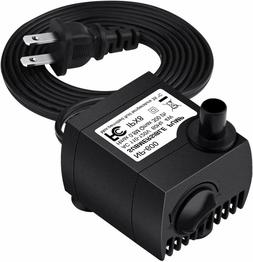 Homasy 80 GPH  Submersible Water Pump, Ultra Quiet For Pond