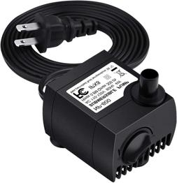 Homasy 80 GPH 300L/H, 4W Submersible Water Pump, Ultra Quiet