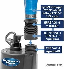 Superior Pump 91250 1/4 HP Thermoplastic Submersible Utility