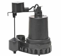 Superior Pump 92372 Thermoplastic Sump Pump with Vertical Fl
