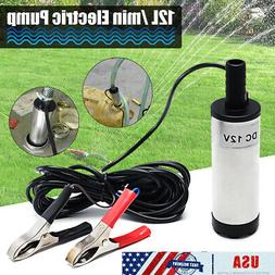 Car 12V 38mm Electric Submersible Water Oil Diesel Fuel Tran