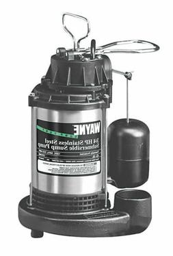 WAYNE CDU980E 3/4 HP Submersible Cast Iron and Stainless Ste