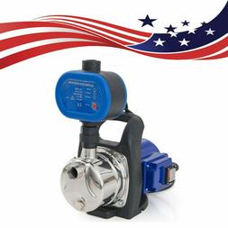 Combo 1.5 HP 1200W Jet Shallow Water Well Booster Pump w/ Pr