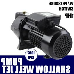 Commercial 1 HP Shallow Well Jet Pump W/ Pressure Switch Wat