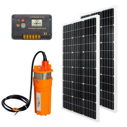DC 24V Deep Well Submersible Water Pump Off Grid System Kit