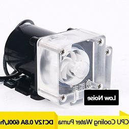 YaeCCC DC 12V 10W Low Noise CPU Cooling Water Pump for Deskt