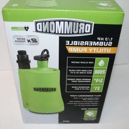 Drummond 1/3 HP Fully Submersible Utility Pump 2000 GPH 120