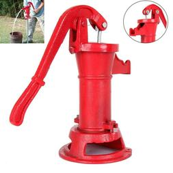 Functional Hand Water Well Pump Pitcher Cast Iron Press Suct