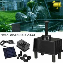 Garden Patio 180L/H Solar Fountain Pump Kit Water Pump Pond