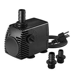 Homasy 320GPH  Submersible Pump, Ultra Quiet Fountain Water
