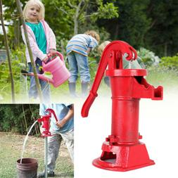Hand Pump Heavy Duty Cast Iron Well Water Pitcher 25 ft Max