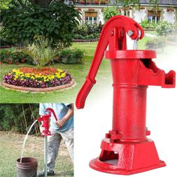 Hand Water Pump Well Pitcher Cast Iron Press Suction Outdoor