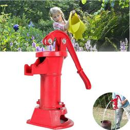 Heavy Duty Cast Iron Well Water Pitcher Hand Pump 25 ft Max