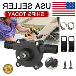 Home Electric Drill Drive Self Priming Pump Water Oil Fluid