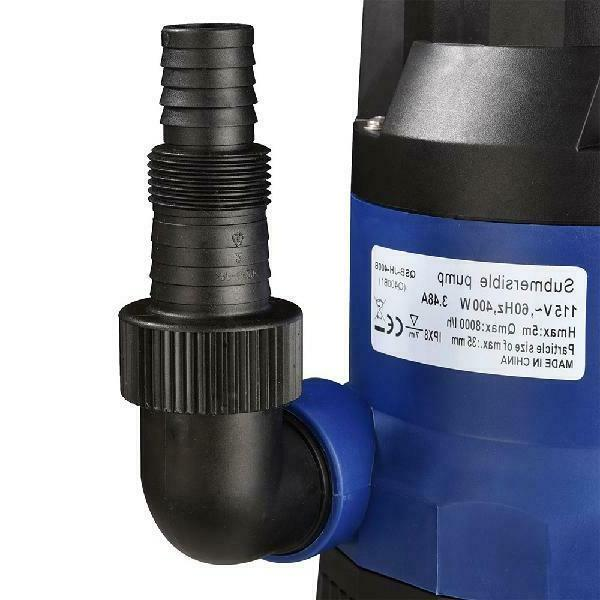 Yescom 1/2 Hp 2112Gph Submersible Dirty Clean