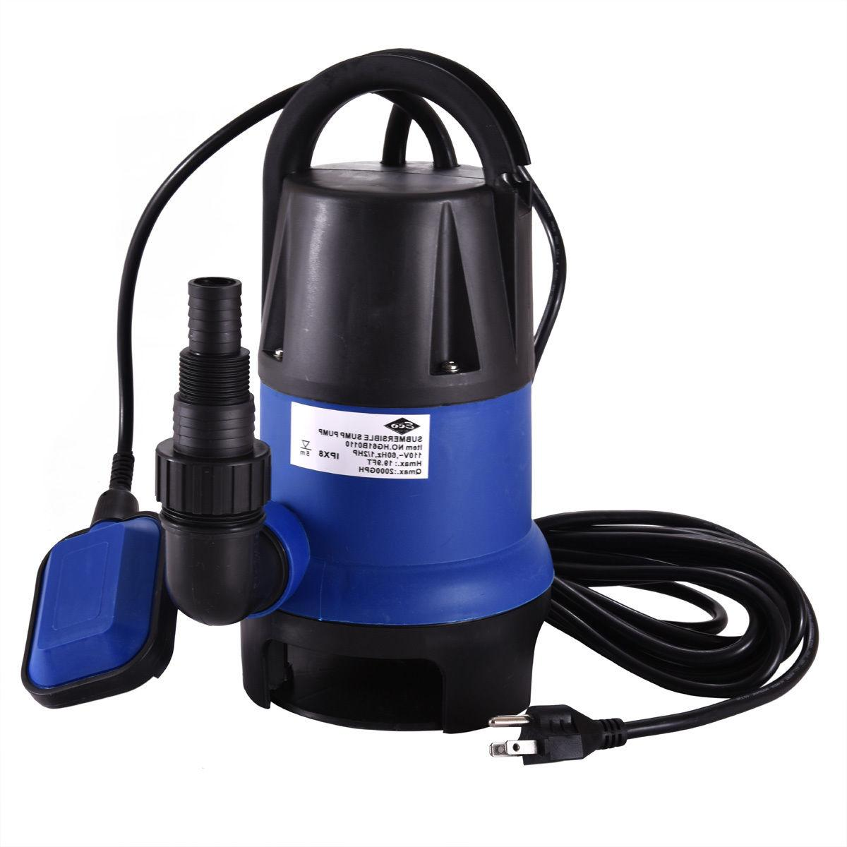 1/2 HP 2000GPH Submersible Water Pump Clean Clear Dirty Swim