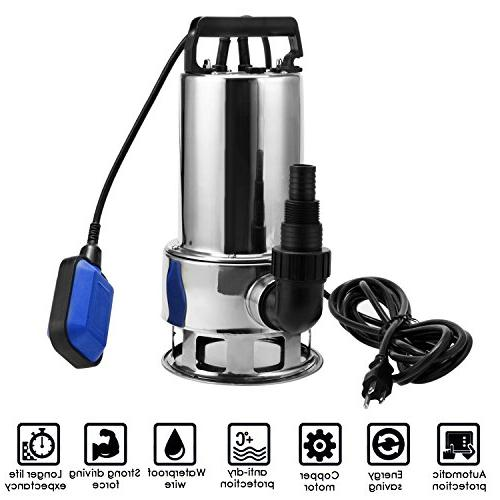 Kemanner 1.5 HP Stainless Steel Dirty Clean w/ Cable Float Switch