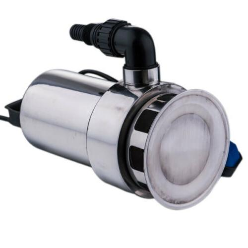 1.5HP Submersible Stainless Steel Silver Dirty Pond