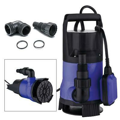 1 5HP Clear Dirty Water Submersible Plastic Pump Swimming Pool Pond Flood  Drain